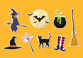 Halloween-Aufkleber-Vektor-Icons