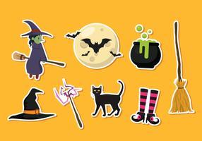 Halloween klistermärke vektor ikoner