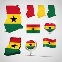 Ghana Karte Vektor