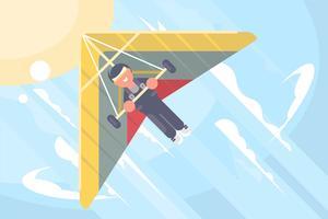 Segelflugzeug-Illustration