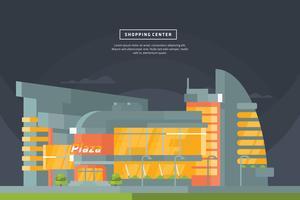 Einkaufszentrum Illustration