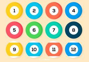 Pool Ball Icon Sammlung vektor