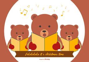 Cute Bear Weihnachtslieder vektor