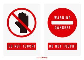 Rör inte på Vektor Sign Collection