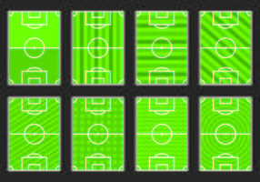 Set Fußball-Boden-Symbol