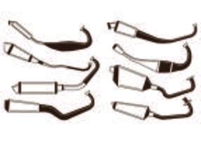 Set Schalldämpfer-Vektor vektor