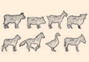Lithograph of Animal Form vektor