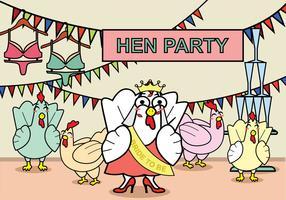 Freie Hen Party Illustration vektor