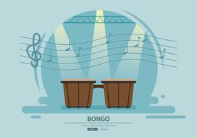 Kostenlose Bongo-Trommel-Illustration vektor