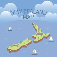 Kostenlose Neuseeland Karten Illustration vektor