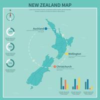 Kostenlose Blue New Zealand Karten Illustration vektor