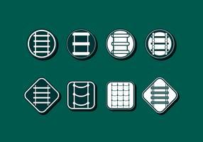 rep stege ikon fri vektor