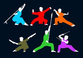 Wushu-Haltung-freier Vektor