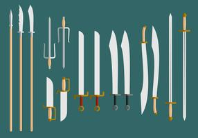 Wushu-Waffen geben Vektor frei