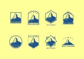 Matterhorn-Weinlese-Logo-freier Vektor