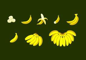 Bananen-flacher Design-freier Vektor