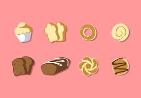 Olika typer av bröd fri vektor