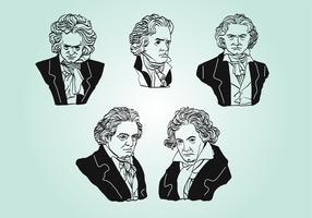 Beethoven-Vektorsatz vektor