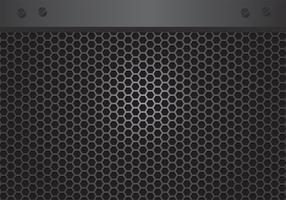 Lautsprecher-Grill-Vektor-Design vektor