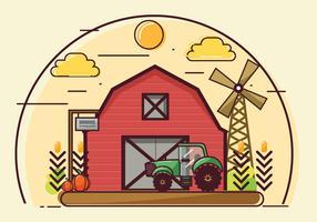 Bauernhof und Scheune Vector Design