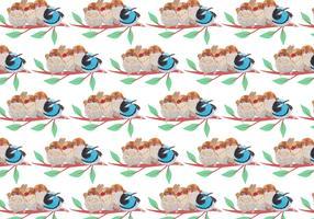 Kostenloses Vektor-Muster mit gemalten Vögeln