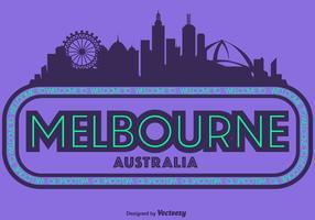 Vektorillustration av Melbourne City Skyline vektor
