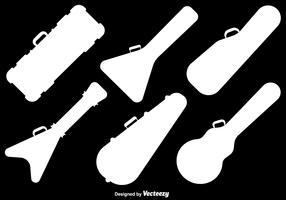 Vektor-Gitarren-Kasten-flache Ikonen vektor