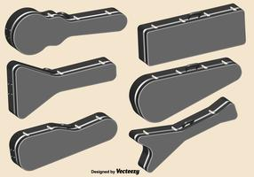 Vektor-Gitarren-Kasten-Farbikonen-Satz vektor