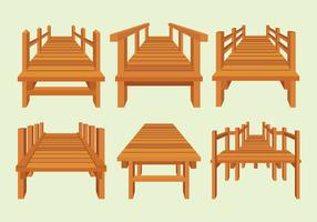 Boardwalk-Vektoren eingestellt