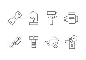 Handgjord, DIY, Bricolage Tools Set Icon vektor