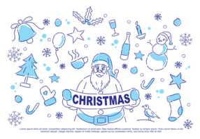 Weihnachtsgekritzel-Vektor-Illustration