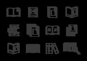Libro Ikoner Vector