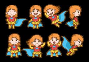Superwoman tecknade vektor