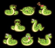 anaconda tecknad vektor