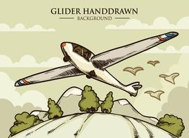 Segelflugzeug-Vektor-Illustration