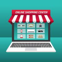 Online-Shopping-Center Kostenloser Vektor