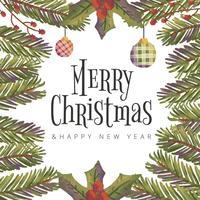 Hintergrund-Weihnachtsblätter und -blumen vektor
