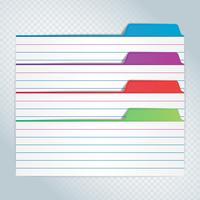 Bunte Archiv-Bookmarks der Karten-Index-Illustration vektor