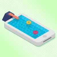 Mobile Internet Surfen Tauchen Illustration vektor