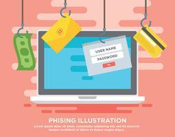 phising illustration vektor