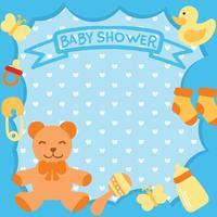 Inbjudan för baby showerkort vektor