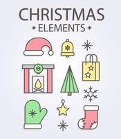 Gratis Christmas Elements Vector