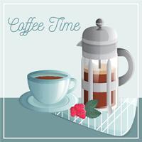 Vektor-Kaffee-Illustration