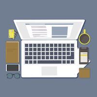 Vektor-Schreibtisch-Illustration
