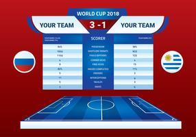 Halbzeit-Fahnen-freier Vektor der Weltmeisterschaft 2018