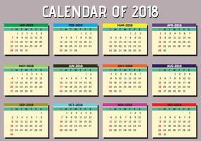 Einfacher druckbarer Kalender