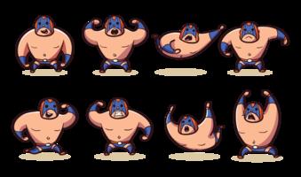 Mexikanischer Wrestler-Karikatur-Vektor