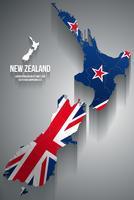 Vektor-Illustration der Neuseeland-Karte vektor