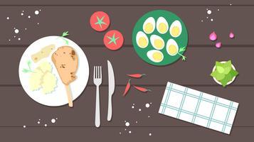 Kalbfleisch-Koteletts-freier Vektor