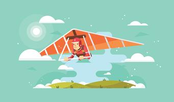 Freier Segelflugzeug-Vektor